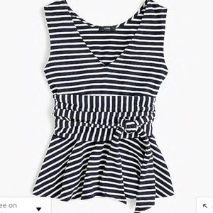 New without tags! Jcrew wrap peplum top